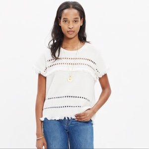 Madewell Short Sleeve Fringe Sweater